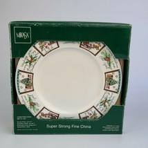 Set of 4 Mikasa Christmas Wish Ultima + super strong  Dinner Plates HK71... - $29.69