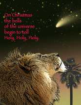 Holy, Holy, Holy: Unique Blank Christmas Card - $5.00