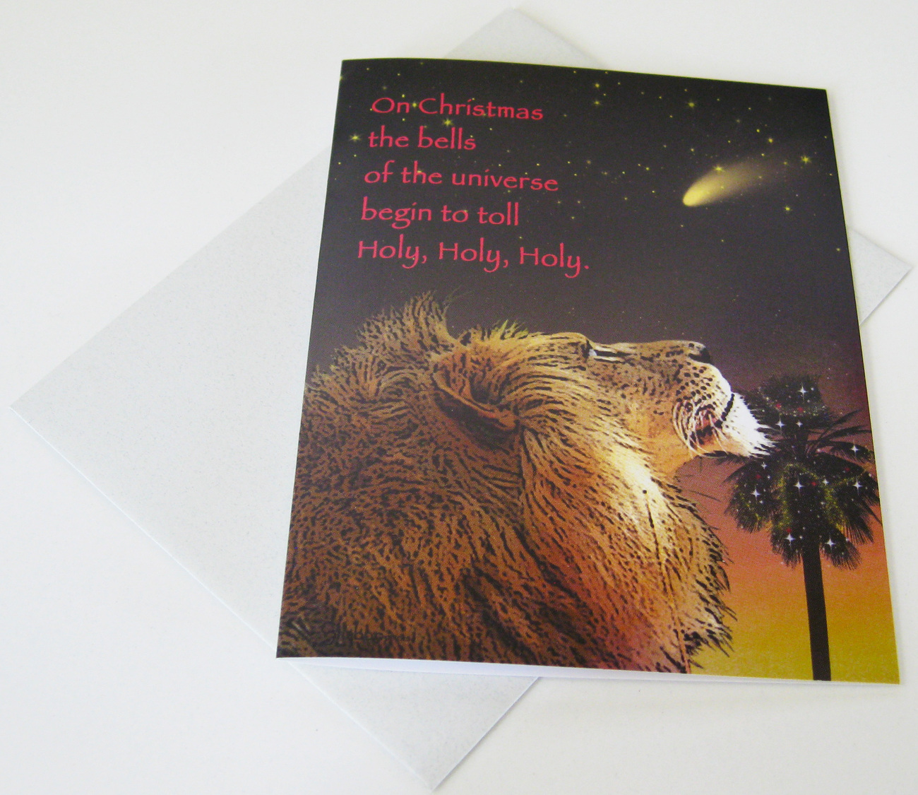 Holy, Holy, Holy: Unique Blank Christmas Card