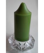 "Partylite P7376 Quad Prism Crystal Pillar Candle Holder 3"" Wide Wedding ... - $32.62"