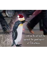 Penguin Holiday I: Unique Blank Christmas Card - $3.25