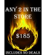 FRI-SUN PICK 2 FOR $185 INCLUDES NO DEALS & MYSTICAL TREASURES - $0.00