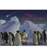 Penguin Holiday II: Unique Blank Christmas Card - $3.25