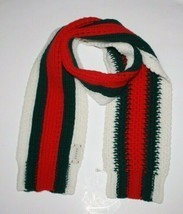 New Gucci Kids/Ladies Red Green Web Wool Scarf - $227.70