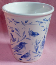 Hallmark Nature's Sketchbook Marjolein Bastin Blue Birds Flower Vase Pla... - $14.99