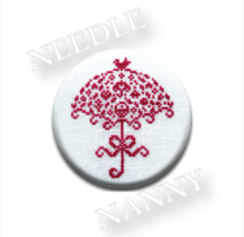 Umbrella Needle Nanny cross stitch JBW Designs   - $12.00