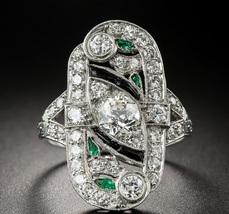 Solid 14k White Gold White Diamond Round & Marquise Cut Womens Anniversary Ring  - $469.99