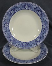 American Atelier Asian Tonile 5025 Blue Lot of 2 Rimmed Soup Bowl Stoneware - $19.95
