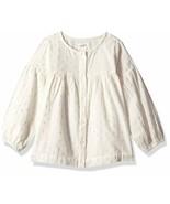 Gymboree Girls' Big Long Sleeve Woven Shirt, White/Metallic dot Button, 12 - $26.48