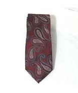 Jos A Bank 1905 Collection Paisley Silk Tie Men Necktie Red Silver 58 in... - $14.84