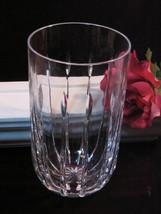 Vintage 1980 Atlantis Lead Crystal Vertical Lines Tall Vase Contemporary Crystal - $89.99