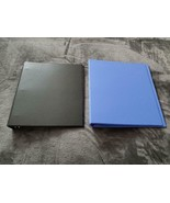 "AVERY BINDERS - 2 PACK - 1"" RING - BLACK/BLUE - NEW - $20.00"