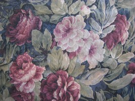Dan River Vintage Pillow Sham Standard Size Victorian Floral Made in USA - $11.69