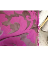Duralee Clarke and Clarke jaquard chocolate orchid demask fabric by the ... - $37.62