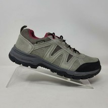 Riemot Hiking Shoes Womens Low Top Waterproof Casual Gray/Pink Size US 1... - $32.87