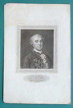 COMTE DE BUFFON French Naturalist - 1840s Portrait Antique Print - $22.50