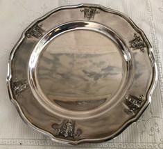 Vtg Rare Silver Plate 1847 Rogers Bros Ambassador Dish Saucer Server Heavy - $44.55