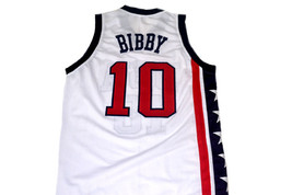 Mike Bibby #10 Team USA Basketball Jersey White Any Size image 5