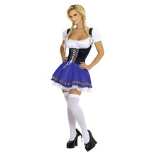 German Oktoberfest Beer Bavarian Waitress Serving Maid Cosplay Costume - $29.63