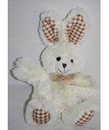 "Hobby Lobby EASTER BUNNY RABBIT 12"" Brown Gingham Ears Feet Soft Toy Plu... - $24.16"