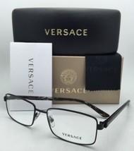 Neuf Versace Lunettes MOD.1212 1009 55-17 140 Cadres Noirs avec Versace Logos