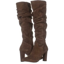 Franco Sarto Artesia Pointed Toe Slouch Knee High Boots 181, Light Brown Suede, - $71.03