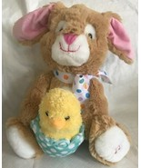 """Cuddle Barn Hip & Hop Bunny Chick Animated  Easter """"Here Comes Peter Cot... - $19.79"""