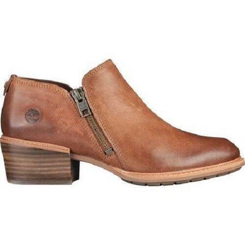 Primary image for TIMBERLAND A1YHW SUTHERLIN BAY WOMEN'S BROWN LEATHER ANKLE BOOTIES