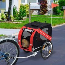 2-in-1 Pet Bike Trailer & Jogging Stroller Grey And Blue Can Be Rotated ... - £129.95 GBP+