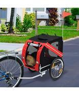 2-in-1 Pet Bike Trailer & Jogging Stroller Grey And Blue Can Be Rotated ... - $201.98