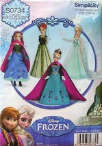 "Simplicity Pattern S0734 Disney Frozen Wardrobe Pattern for 11.5"" Fashio... - $3.95"