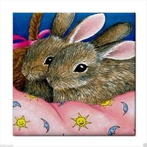 Tile Coaster Hare 41 rabbit, from original Art L.Dumas - $13.99