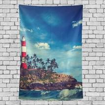 Kitchen Wall Hanging Beautiful Lighthouse Landscape Pattern Tapestries F... - $26.00