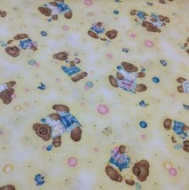 Daisy Kingdom Butterfly Teddy Bears Bubbles Tossed Fabric Vintage New  3... - $29.98