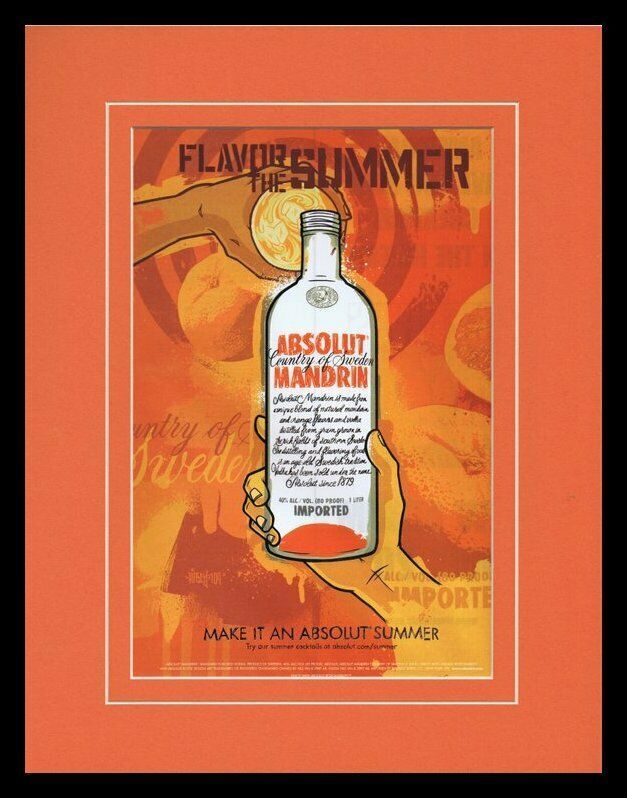 Primary image for 2004 Absolut Mandarin Vodka Framed 11x14 ORIGINAL Advertisement
