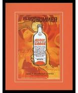 2004 Absolut Mandarin Vodka Framed 11x14 ORIGINAL Advertisement - $32.36
