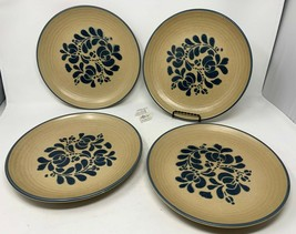 "Pfaltzgraff USA ""Folk Art"" Set of 4 Dinner Plates - 10 3/8"" Diameter - Nice! - $38.99"