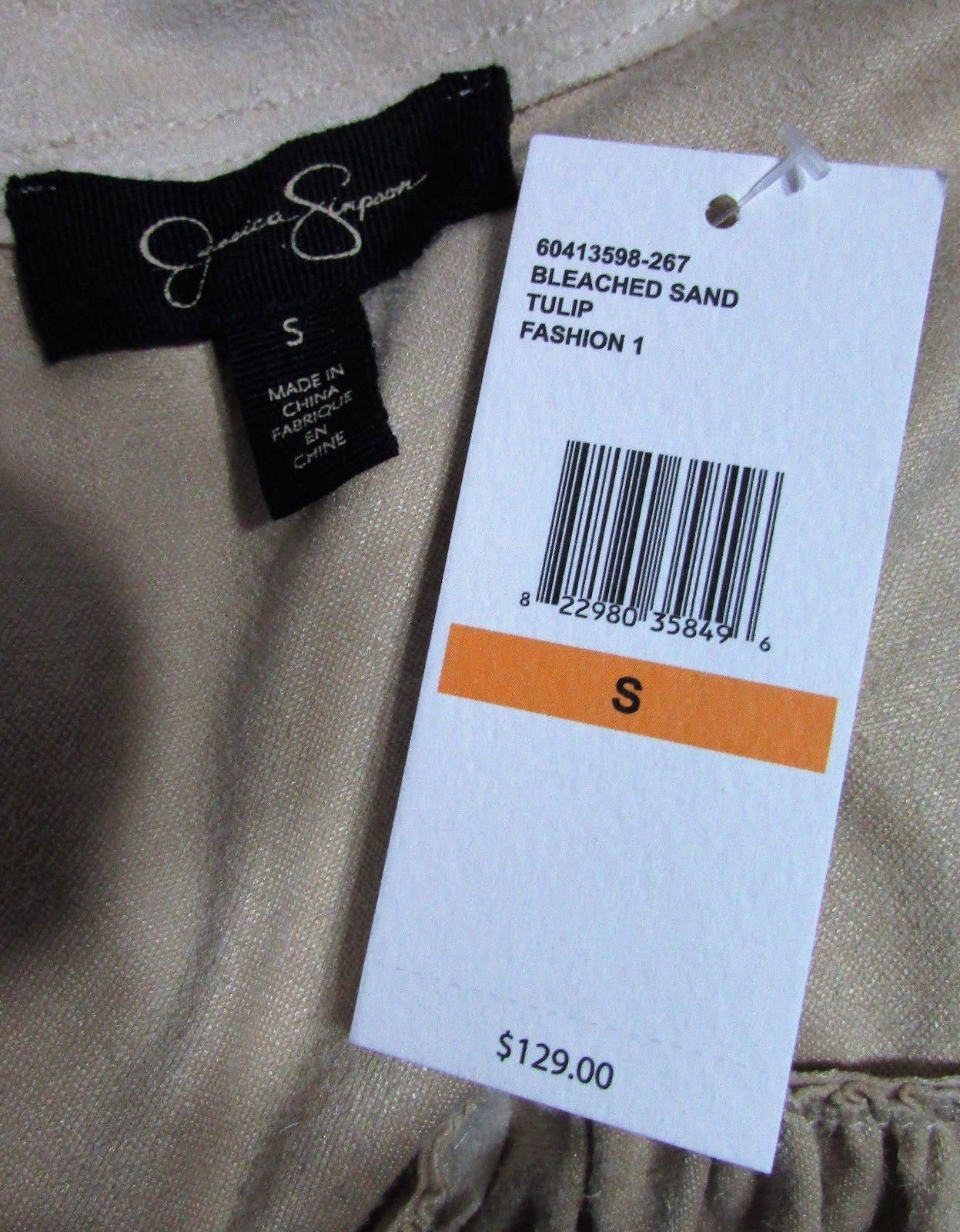 "Jessica Simpson ""Tulip"" Faux Suede Jacket Sz S NWT $129"