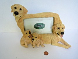 Golden Retriever Labrador Dog Puppy Photo Frame Encore Kennel Club Resin - $5.20