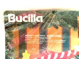 Bucilla Season's Greetings Buffet Caddy Needlepoint Kit 1995 - $9.90