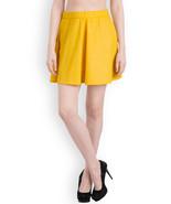Rider Republic Women's Yellow Flare Pleated Skater Skirt  - $36.00