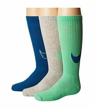 Nike Youth 3PK Performance Cushion Crew Sock Large 5Y-7Y SX5268-909 - $19.99