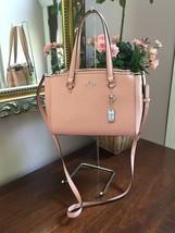 Coach Bag Womens Stanton 26 Leather Textured Satchel 36881 Purse Pink B2Z - $138.59