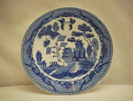 "Old Vintage Blue Willow Pattern 5"" Saucer Oriental Scene ~ Japan - $8.90"