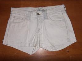 W5734 Womens OLD NAVY Ultra Blue White CUT OFF CUFFED SHORTS Jean XS/0 - $5.48