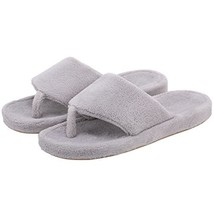 Onmygogo Women Coral Fleece House Slippers with Arch Support, Flip-Flops... - $17.32