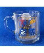 1984 Olympics Souvenir Mug, McDonalds, Clear Glass with Olympic Logos - $12.77
