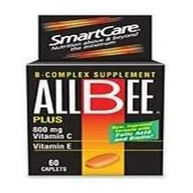 Allbee B Complex Supplement With Vitamin E And Vitamin C-800 Mg Caplets ... - $16.13