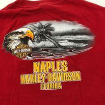 Harley Davidson Timeless Tradition Camicia Adulto Rosso Medio Maglietta Due Lati image 6