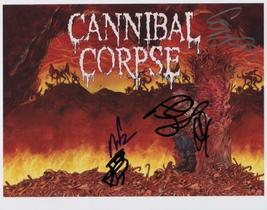 "Cannibal Corpse (Band) FULLY SIGNED 8"" x 10"" Photo + COA Lifetime Guarantee - $99.99"
